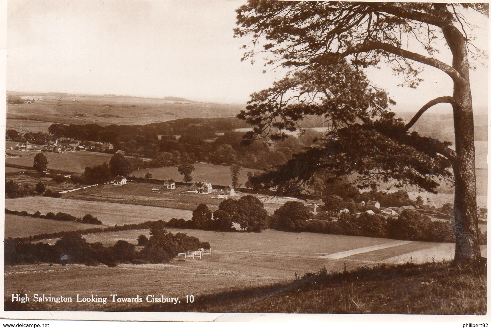 High Salvington Looking Towards Cissbury. - Worthing