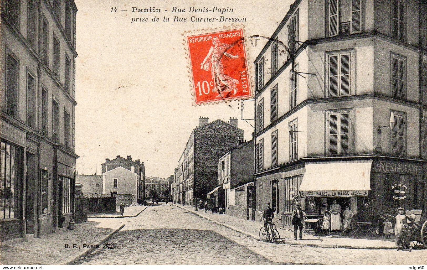 / Pantin - Rue Denis Papin , Prise De La Rue Cartier Bresson - Pantin