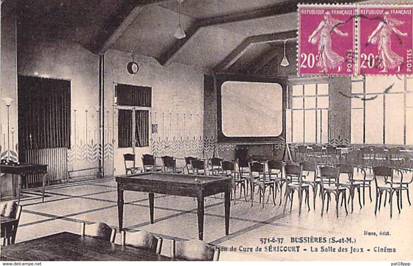 BILLARD Billiards - 77 - BUSSIERES La Salle De JEU CINEMA BILLARD - CPA - Biljart Billar Biliardo - Seine Et Marne - Cartes Postales