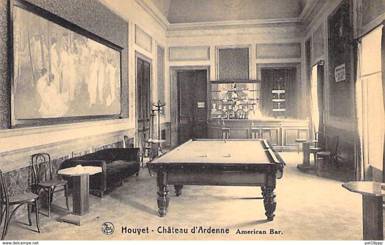 BILLARD Billiards ( Belgique Namur ) HOUYET Hotel Du CHATEAU D'ARDENNE - American Bar CPA Biljart Billar Biliardo Bilhar - Cartes Postales