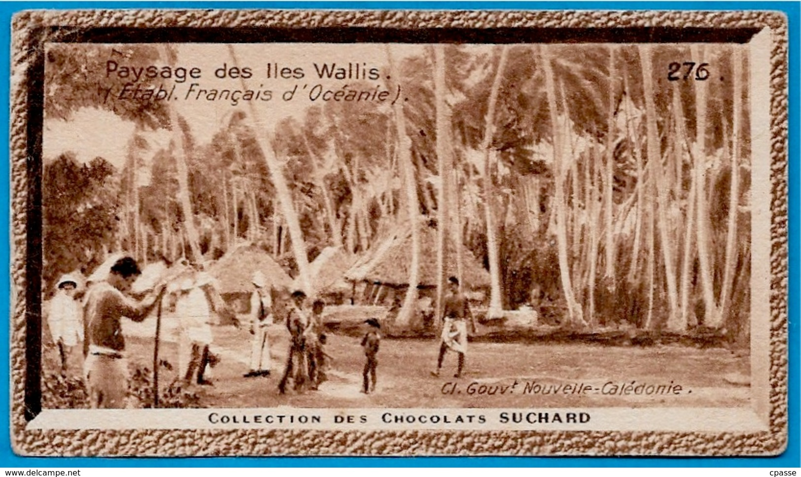 "IMAGE - Paysage Des ILES WALLIS °  Chocolat Suchard ""Collection Coloniale"" * (et Futuna) Océanie - Suchard"