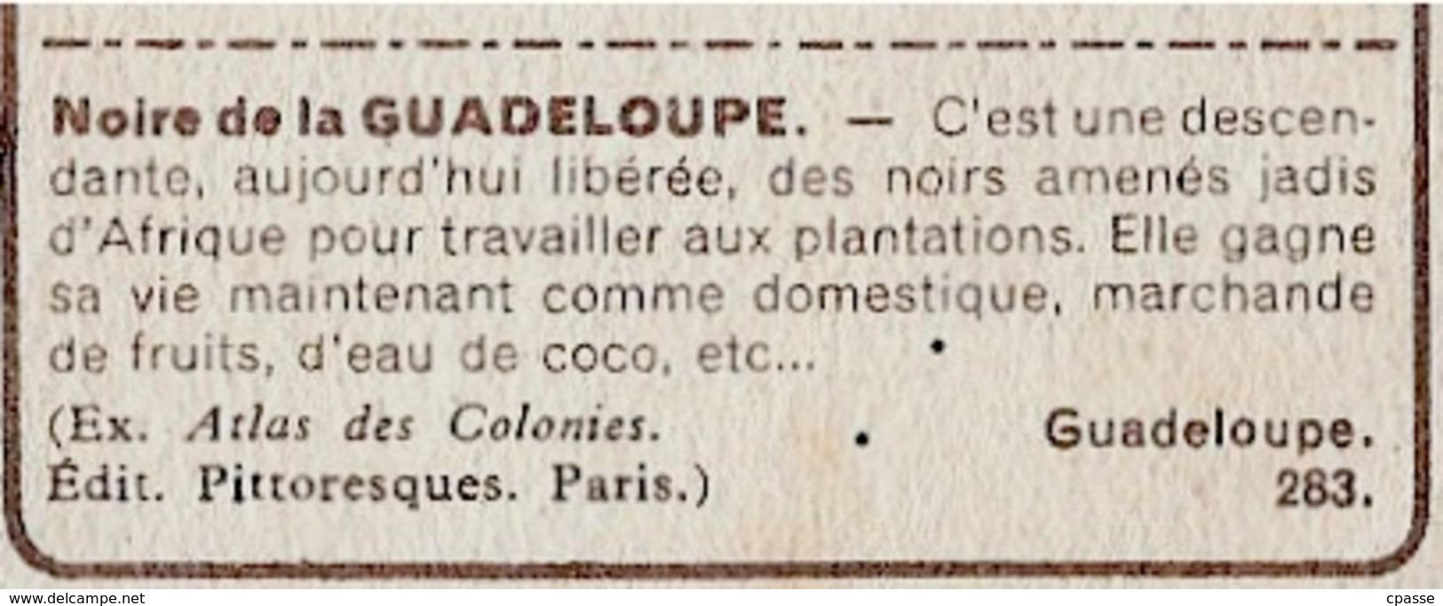 "IMAGE - La GUADELOUPE - ""Une Noire"" (971) °  Chocolat Suchard ""Collection Coloniale"" * - Suchard"