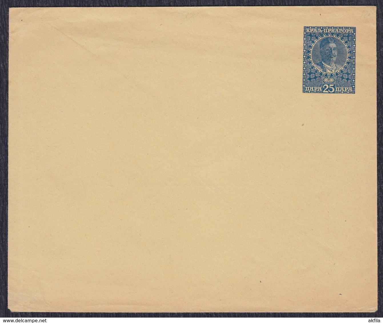 Kingdom Of Montenegro 1913 Value 25 Para, King Nikola I Petrovic, Postal Stationery - Montenegro