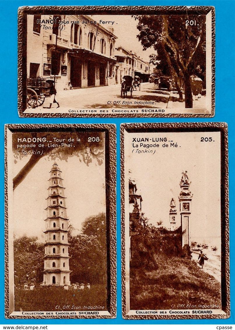 """IMAGE -TONKIN (Lot De 3) °  Chocolat Suchard """"Collection Coloniale"""" * Viêt-Nam - Suchard"""