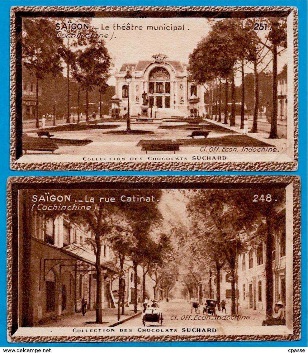 """IMAGE - SAÏGON Cochinchine (Lot De 2) °  Chocolat Suchard """"Collection Coloniale"""" * Viêt-Nam - Suchard"""