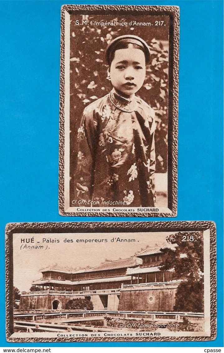 """IMAGE - ANNAM (Lot De 2) Impératrice & Palais Des Empereurs °  Chocolat Suchard """"Collection Coloniale"""" * Viêt-Nam - Suchard"""