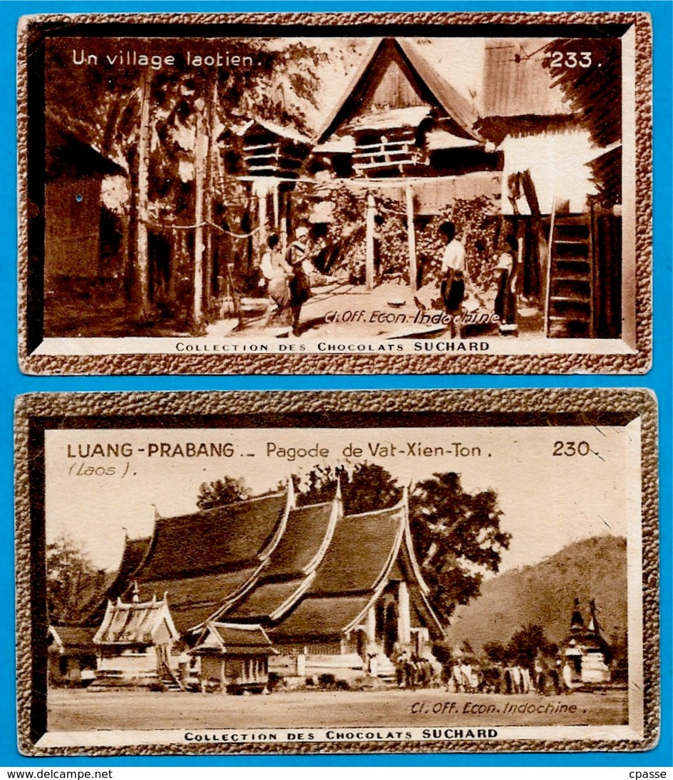 """IMAGE - LAOS (Lot De 2) °  Chocolat Suchard """"Collection Coloniale"""" - Suchard"""