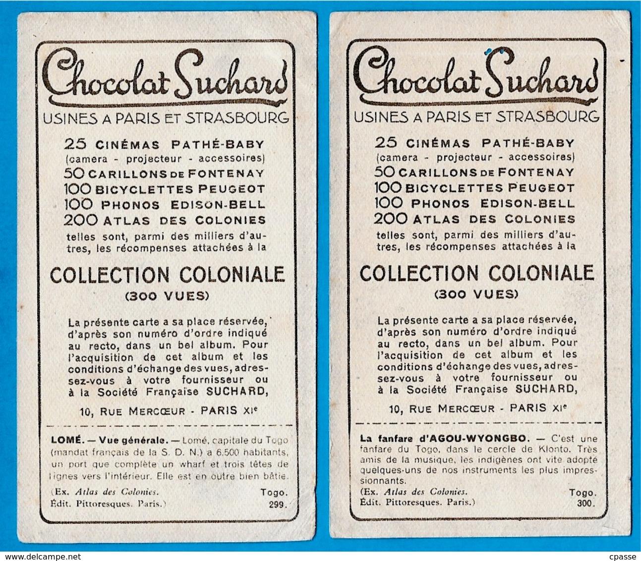 """IMAGE - TOGO (Lot De 2) Dont Fanfare °  Chocolat Suchard """"Collection Coloniale"""" - Suchard"""