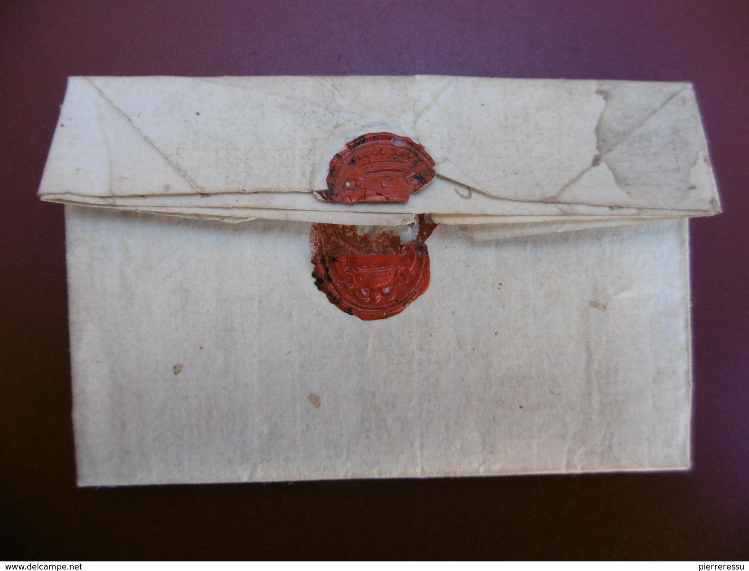 LETTRE MARQUE MANUSCRITE DE COLLIOURE SIGNE PRAT VIA PONT St ESPRIT 1730 A LIRE - 1701-1800: Précurseurs XVIII