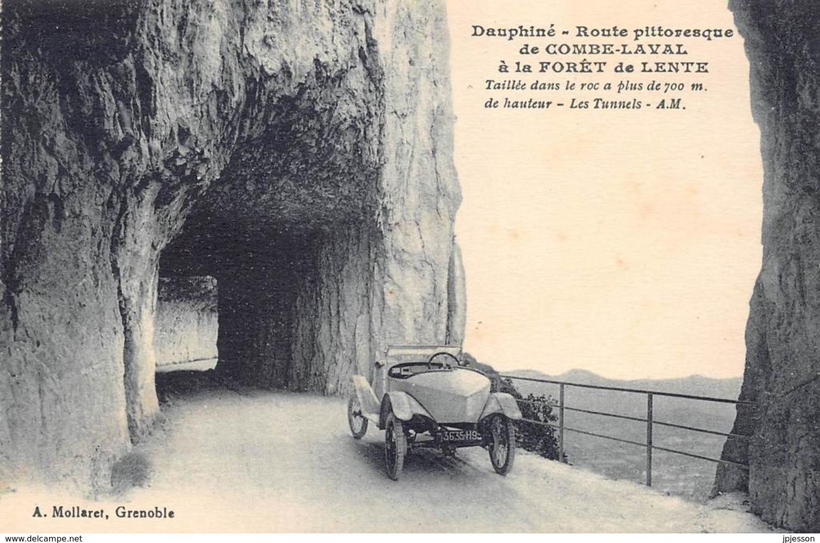 DROME  26  ROUTE DE COMBE LAVAL A LA FORET DE LENTE - AUTOMOBILE - Francia
