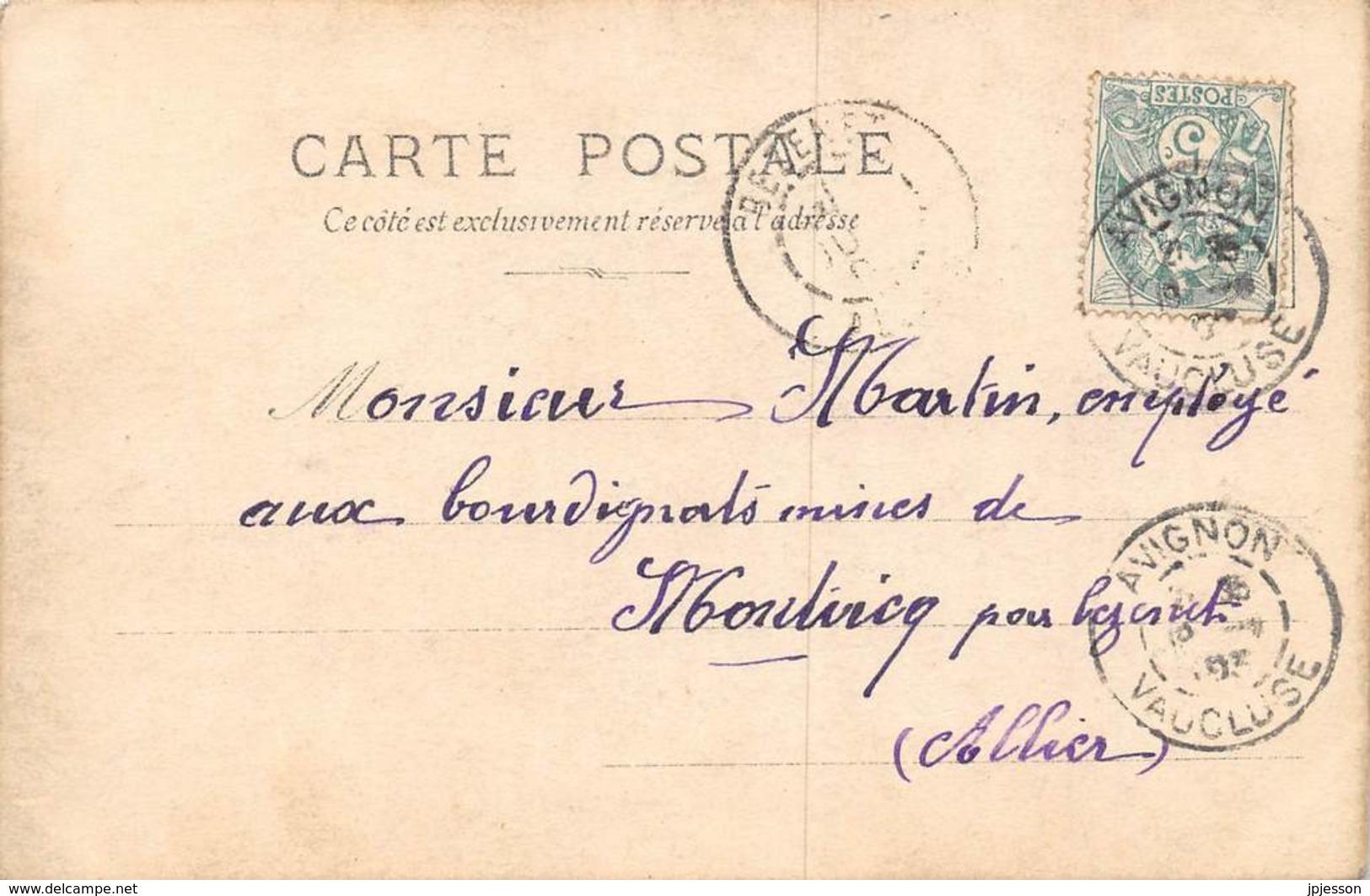 VAUCLUSE  84  AVIGNON  MILITARIA - CARTE PHOTO  REGIMENT DU GENIE, MANOEUVRE DE PONTAGE SUR LE RHONE - Avignon