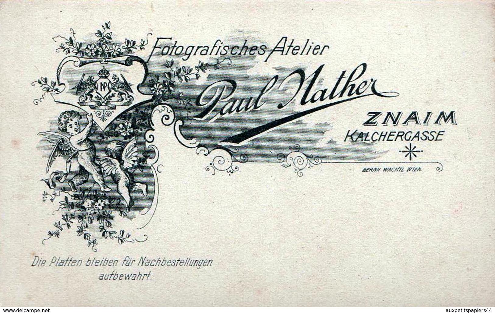 CDV Tirage Photo Albuminé Cartonné République Tchèque -  Znojmo  (Znaim) Frère & Soeur Par Paul Nather 1890/1900 - Photos