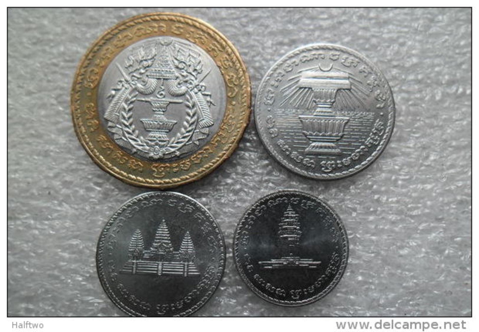 Cambodia Set : 50-500 Riels UNC - Cambodge