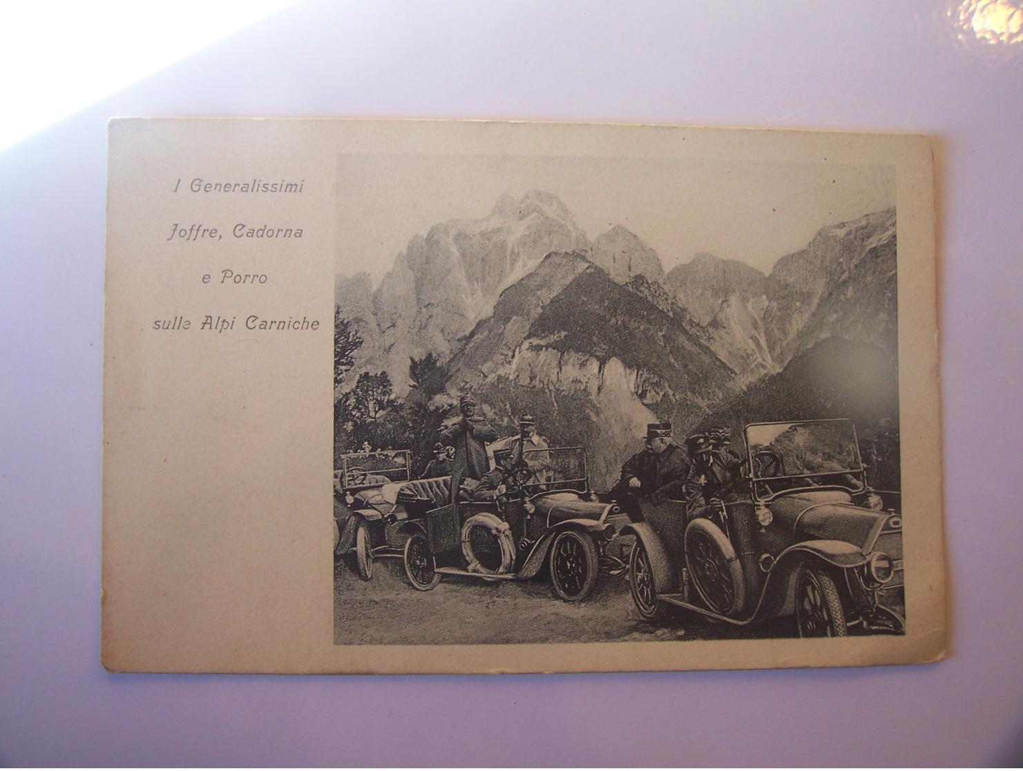 4-2--------publicité -----fiat---i Generalissimi Joffre Cardona E Porro Sulle Alpi Carniche--------voir Recto Verso - Advertising