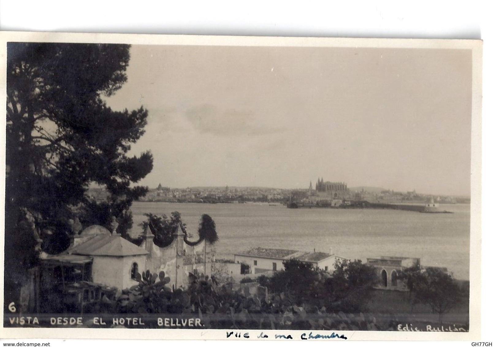"""CPA """"vista Desde El Hotel BELLVER"""" - Mallorca"""