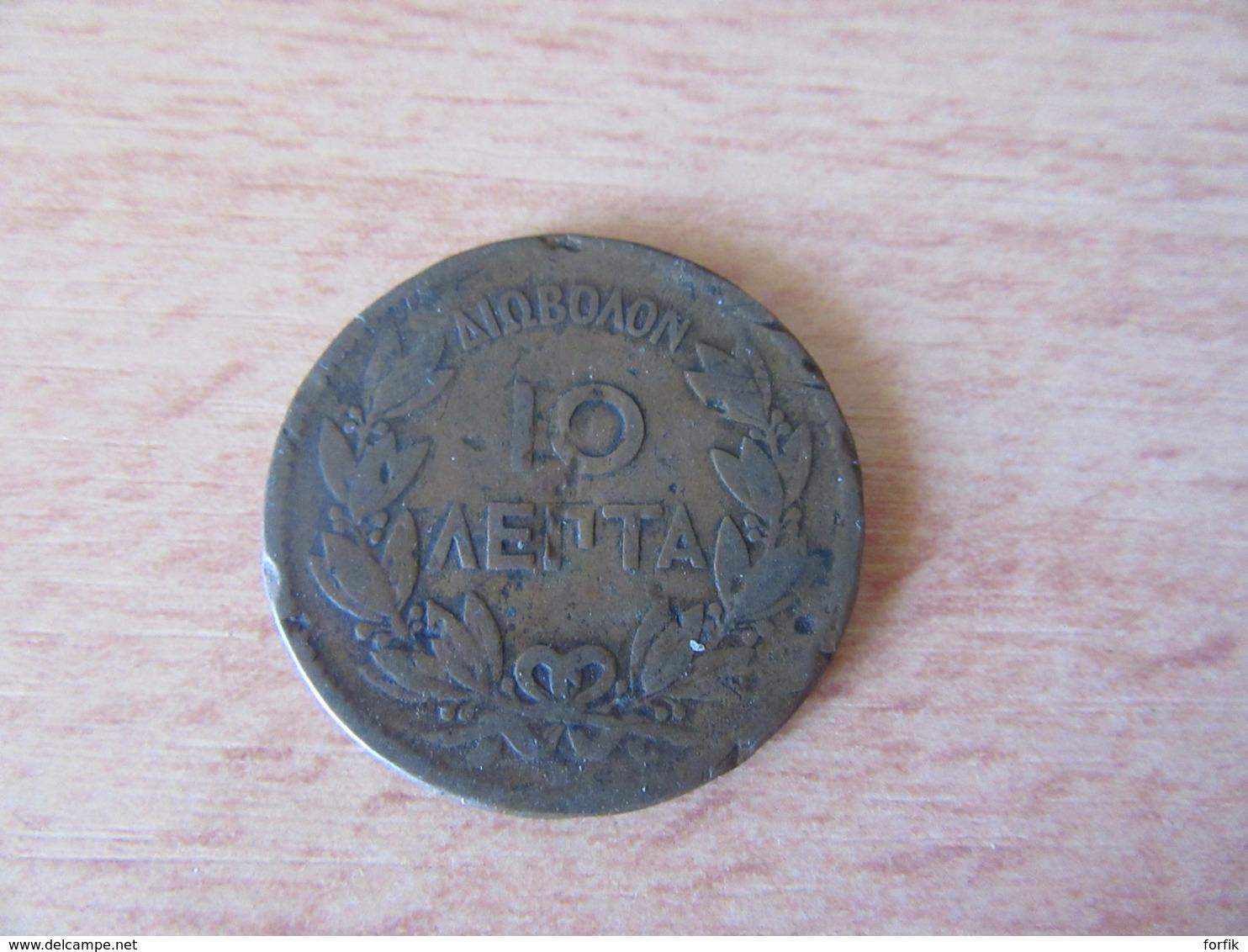 Grèce - Monnaie En Bronze 10 LEPTA 1870 George 1 - Grèce