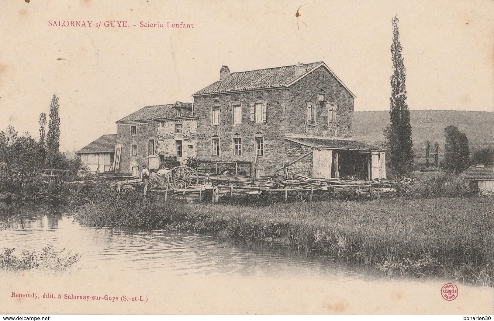 CPA 71 SALORNAY SUR GUYE SCIERIE LENFANT - France