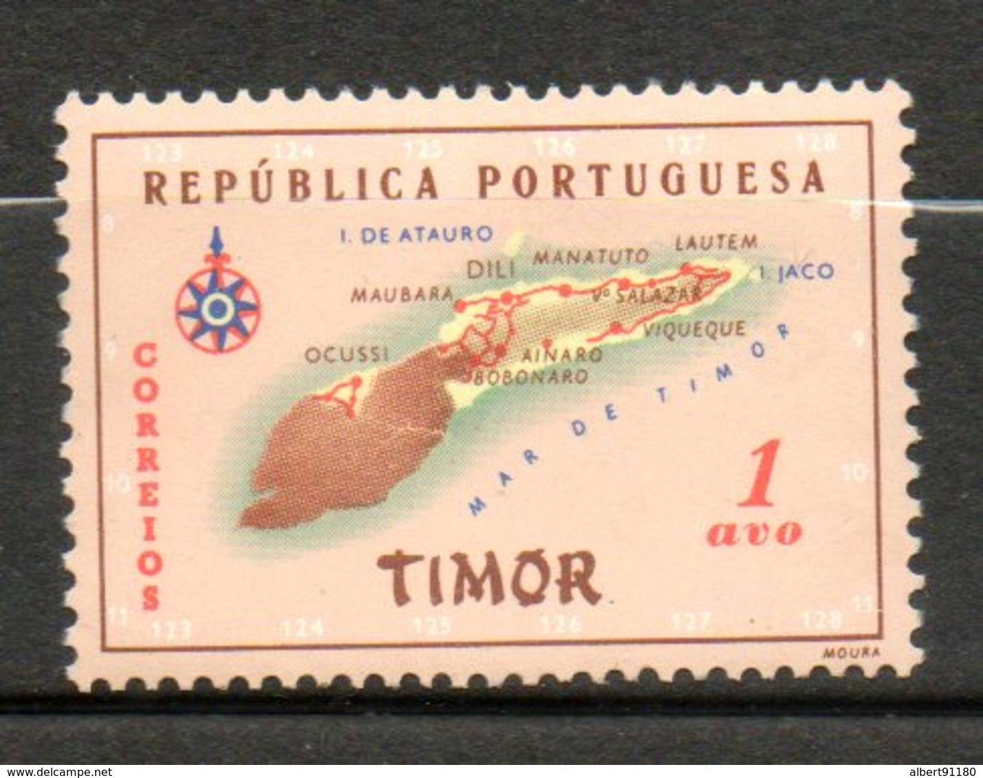 TIMOR Carte De LIle 1956 N° 289 - Timor Oriental