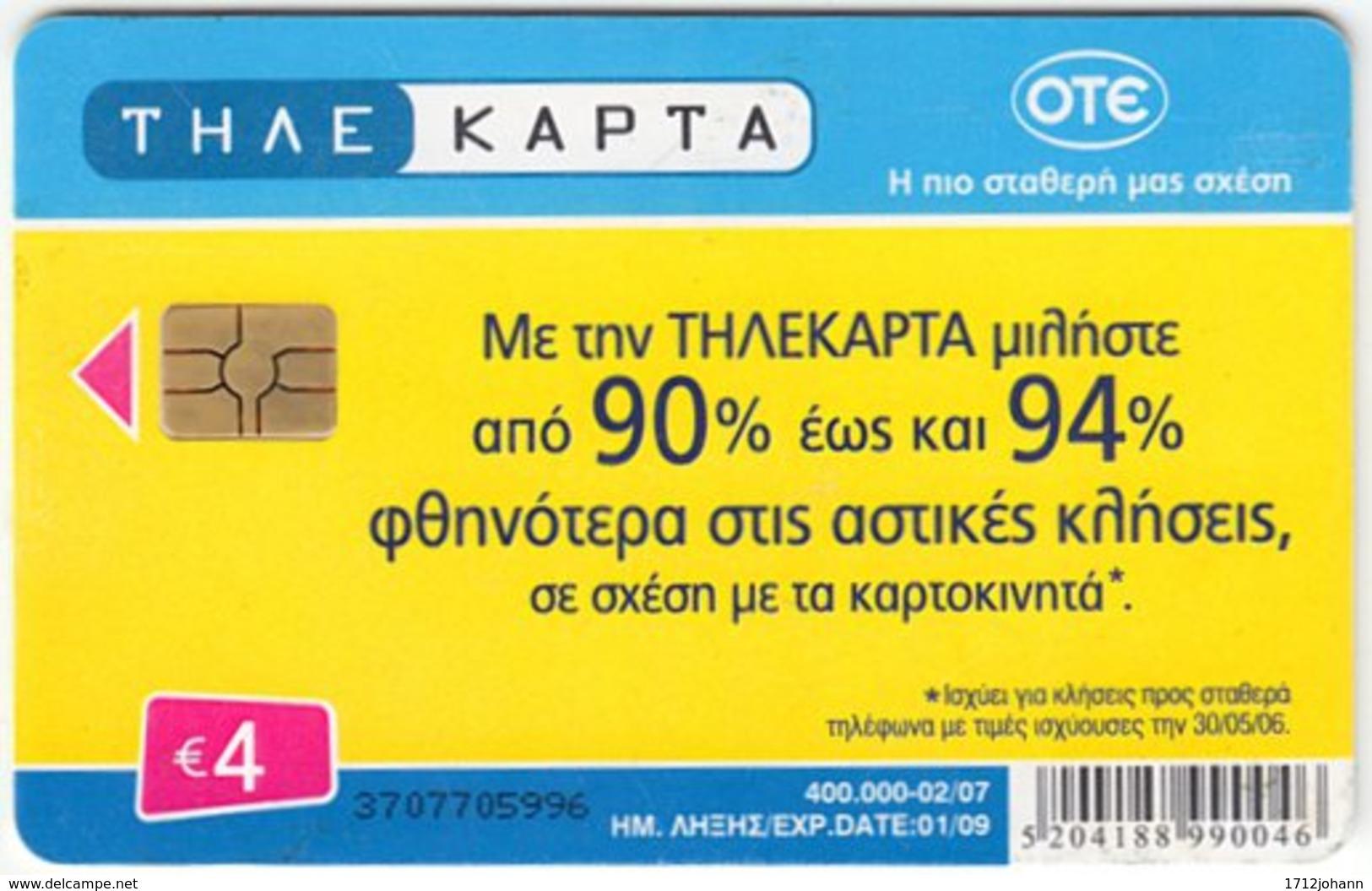 GREECE E-259 Chip OTE - Used - Greece
