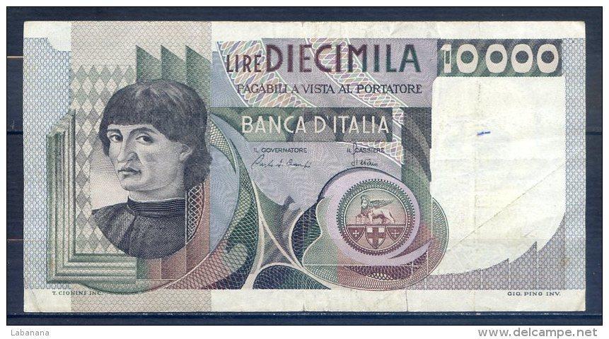 506-Italie Billet De 10 000 Lire 1980 IB040P, Déchirure En Bas - [ 2] 1946-… : République