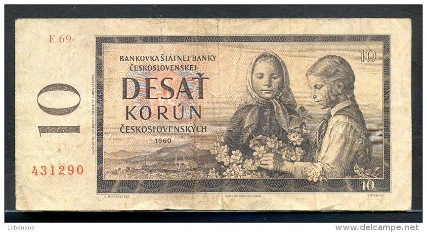 329-Tchécoslovaquie Billet De 10 Korun 1960 F69 - Tchécoslovaquie