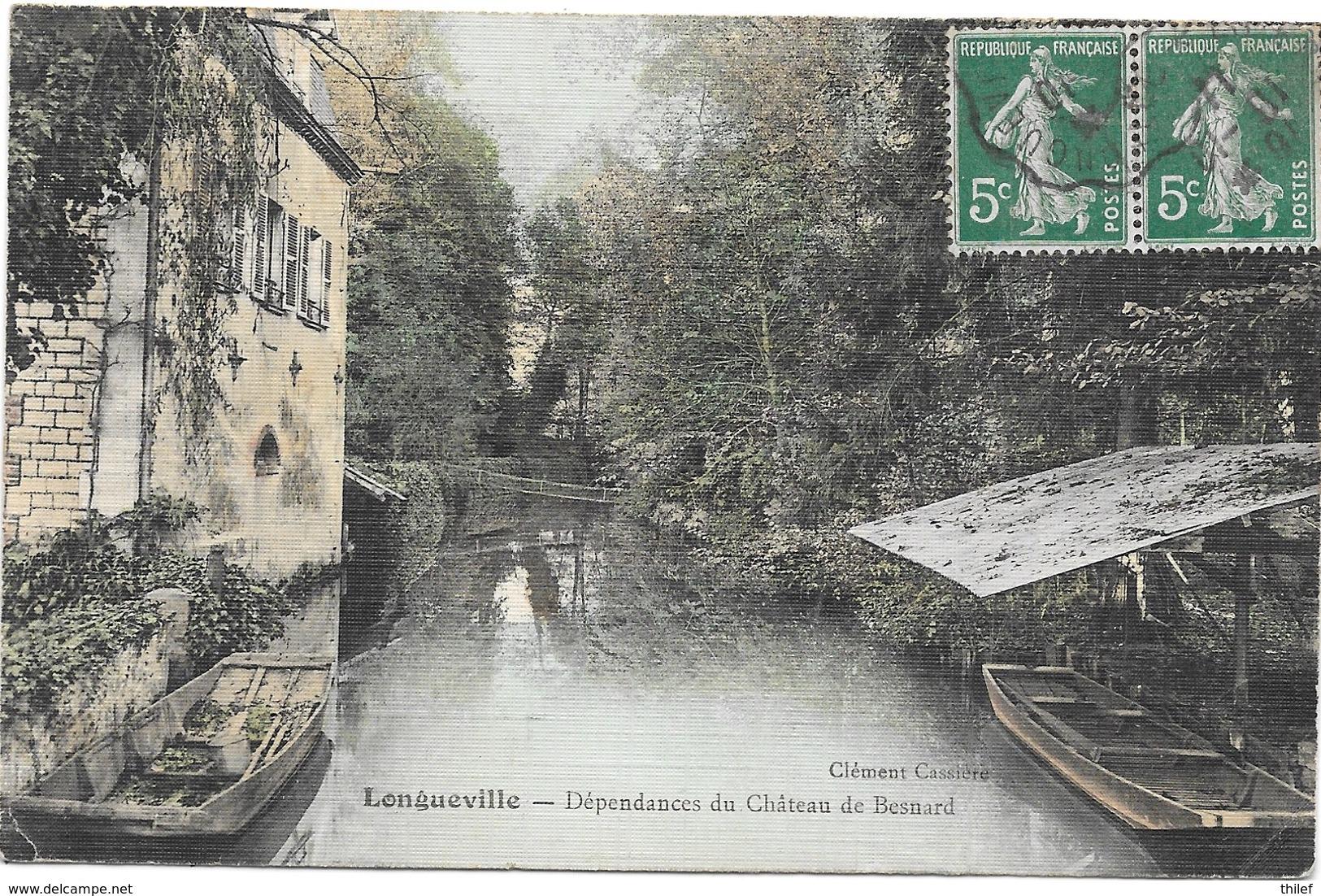 Longueville NA1: Dépendances Du Château De Besnard 1911 - France