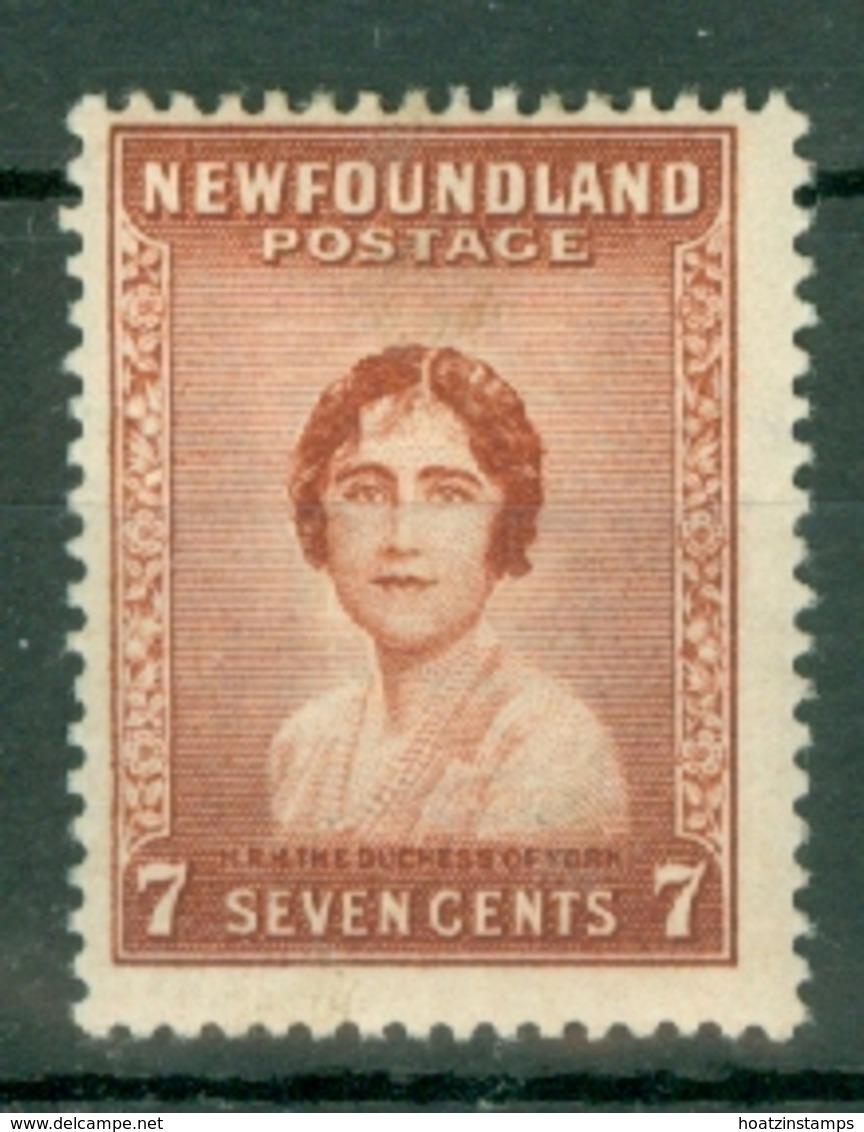 Newfoundland: 1932/38   Pictorial  SG226     7c      MH - 1908-1947