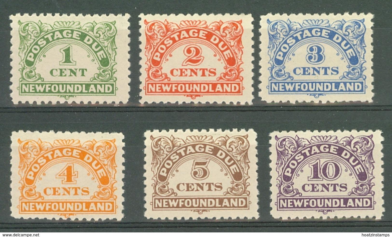 Newfoundland: 1939/49   Postage Due Set   SG D1-D6    MH - 1908-1947