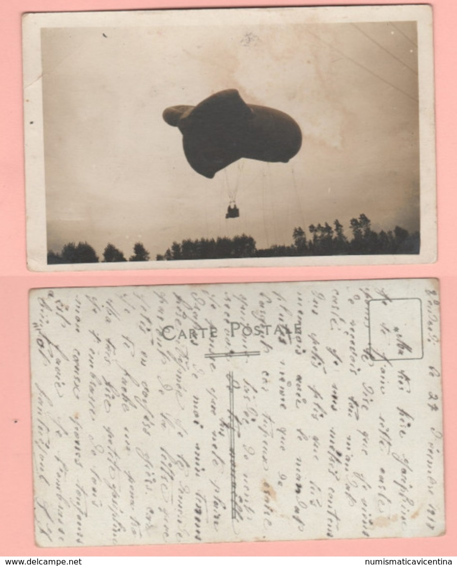 Dirigibile Da Avvistamento Draken Air Balloons Dirigeables Airship 1918 Cpa Francaise - Dirigibili