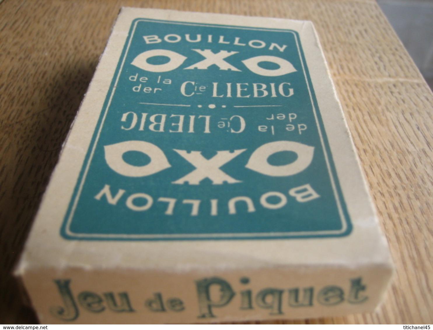 Jeu De Cartes Ancien PIQUET De 36 Cartes (+ Un Joker) PUB Bouillon OXO De La Cie LIEBIG - Playing Cards (classic)