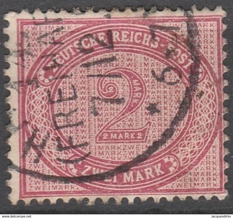 Deutsches Reich    .     Michel       .    37      .       O        .      Gebraucht - Deutschland