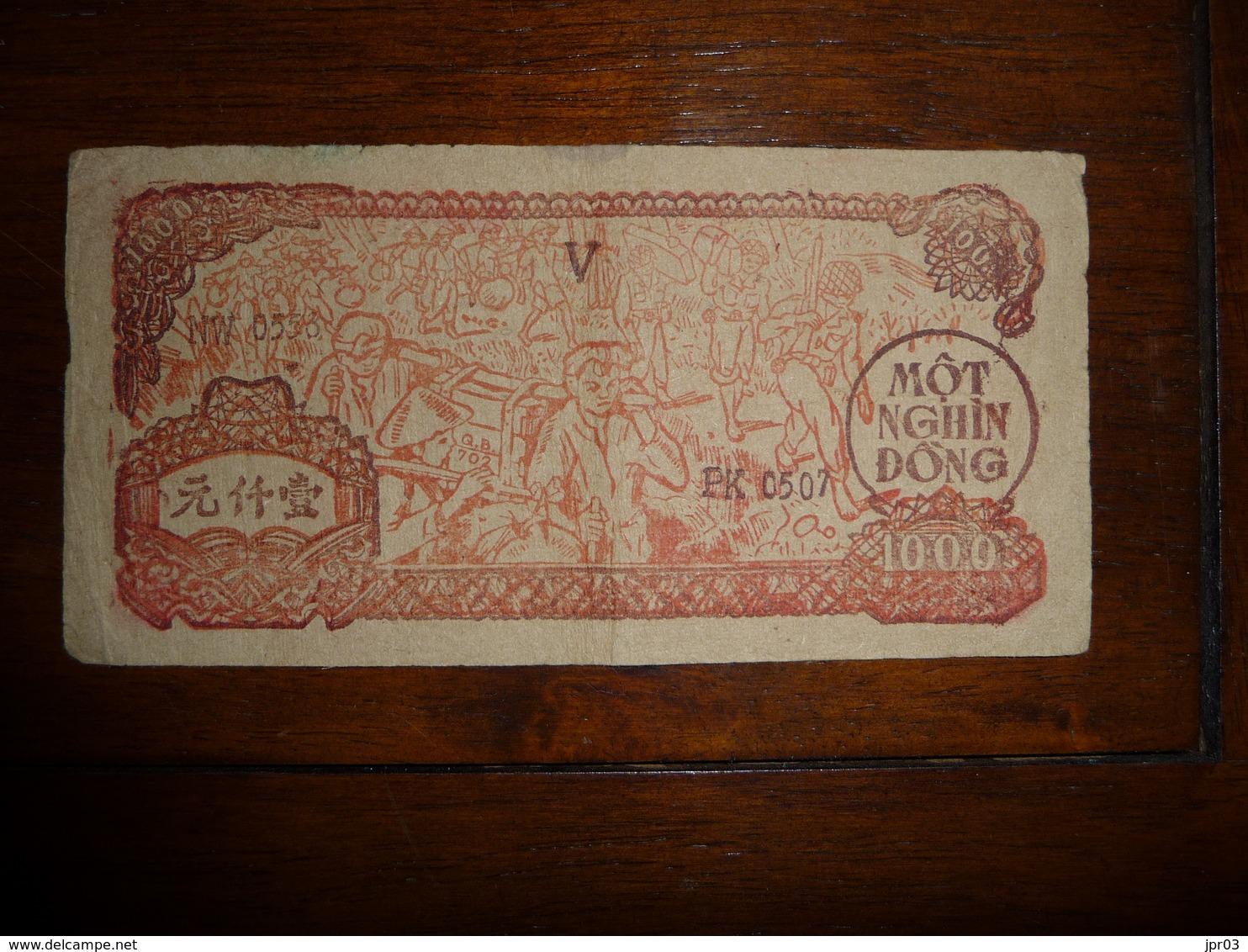 NORTH VIET NAM  * TIN PHIEU 1000  DONG  1951 - Viêt-Nam