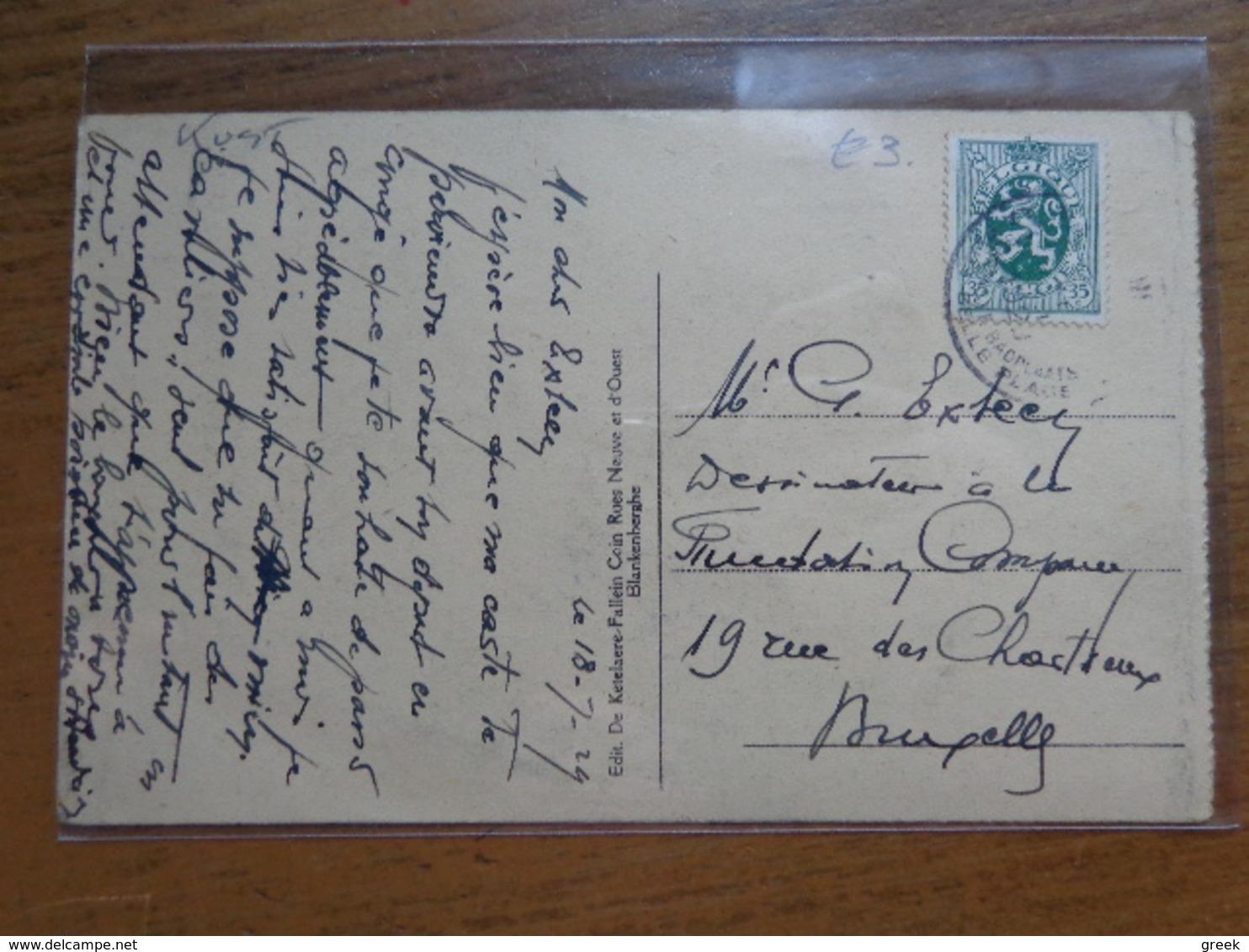 Blankenberge, Barques De Sauverage (reddingsboten) -> Beschreven 1924 - Blankenberge