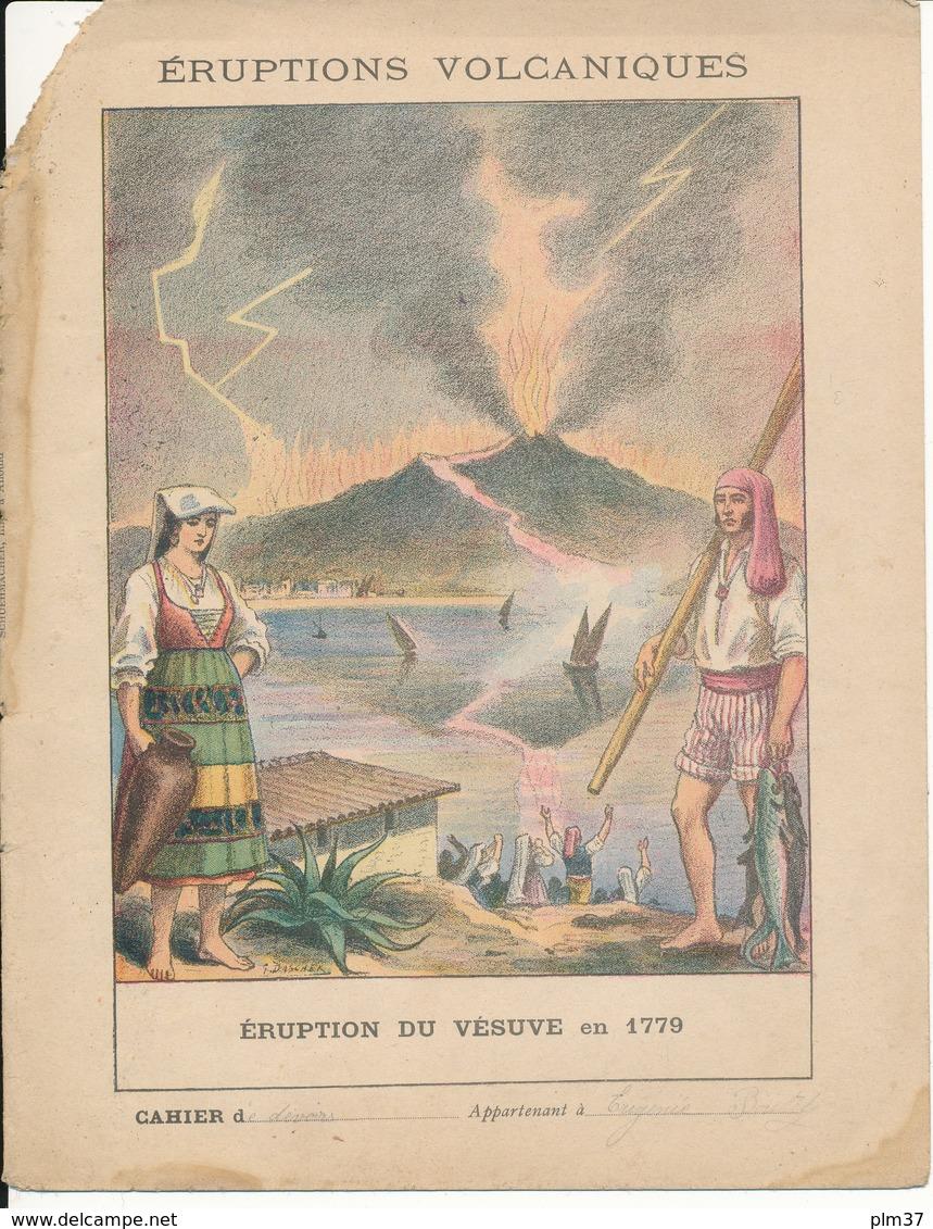 Couverture De Cahier - Eruption Du Vésuve En 1779 - Schuehmacher - Protège-cahiers
