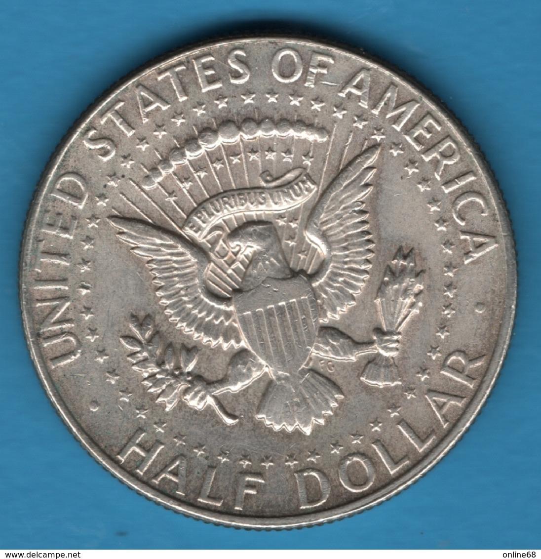 """USA 1/2 DOLLAR 1968 D """"Kennedy Half Dollar""""  SILVER Argent 400‰ - Federal Issues"""