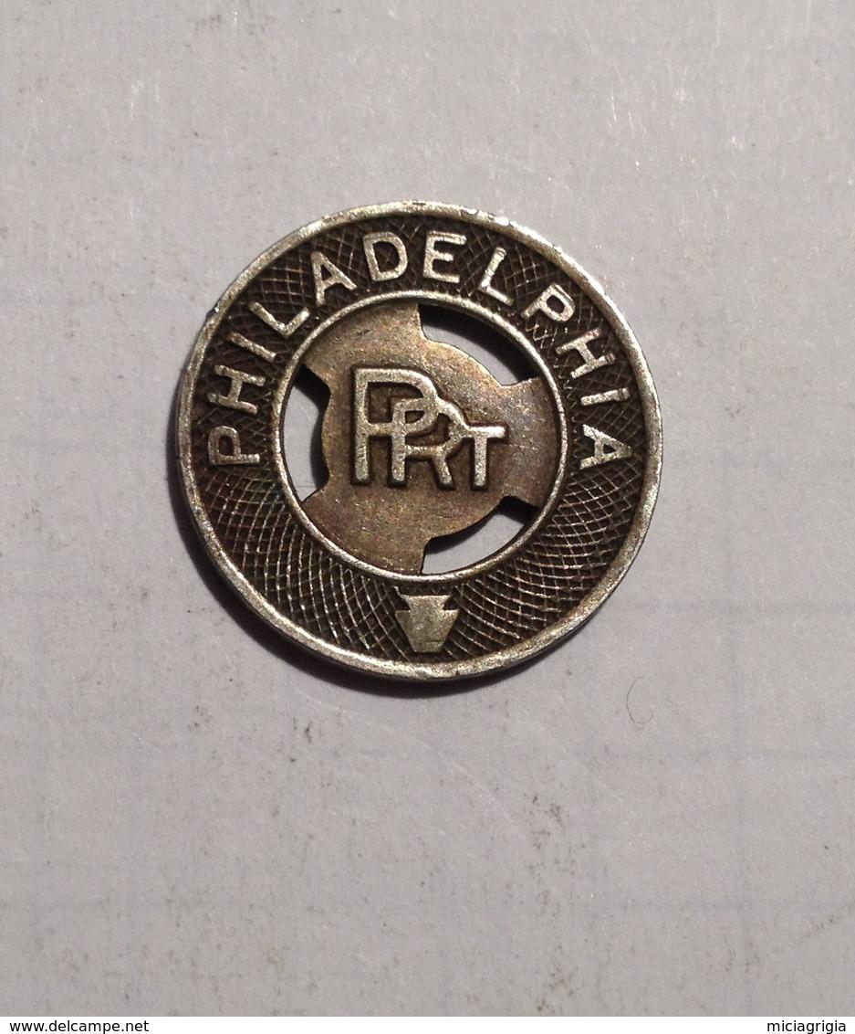 TOKEN GETTONE STATI UNITI USA TRANSIT PHILADELPHIA P.R.T. - Monétaires/De Nécessité