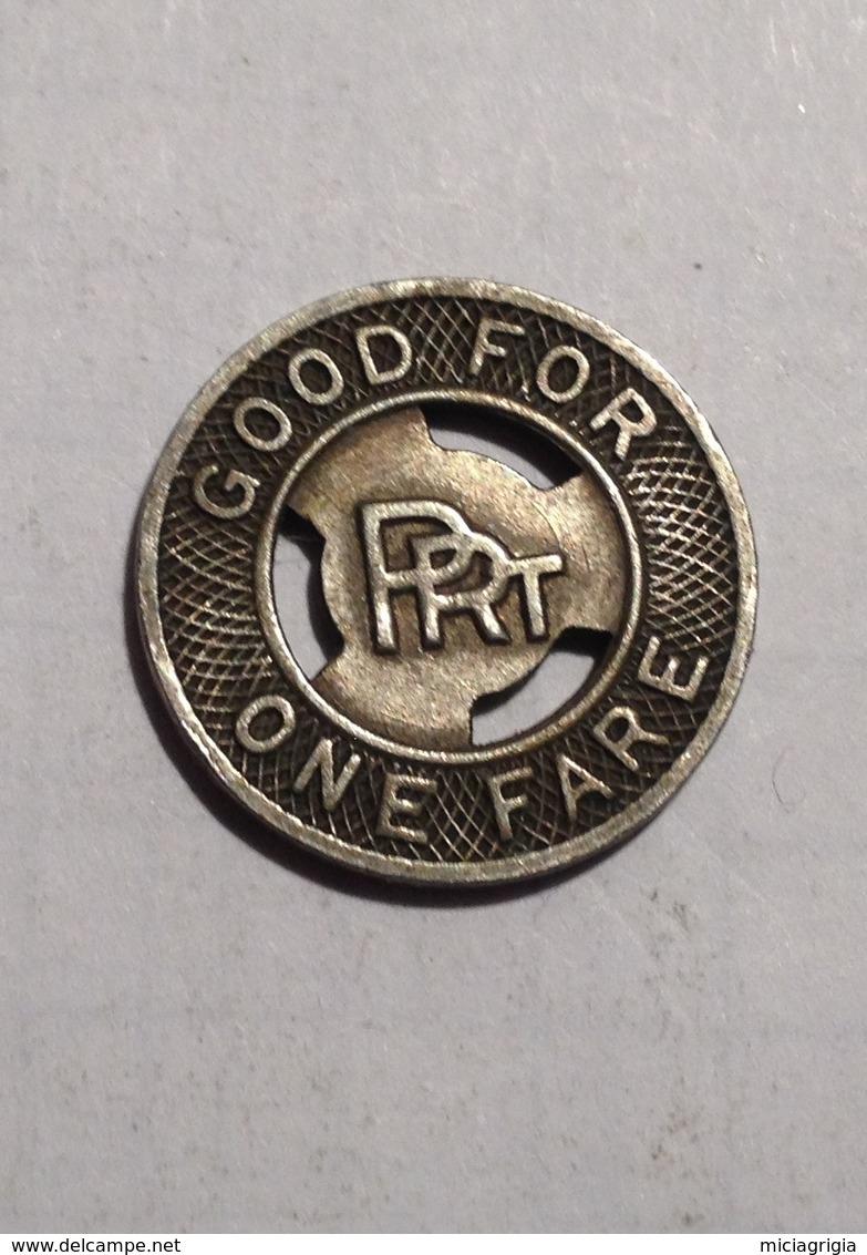 TOKEN GETTONE STATI UNITI USA TRANSIT PHILADELPHIA P.R.T. - Monetari/ Di Necessità