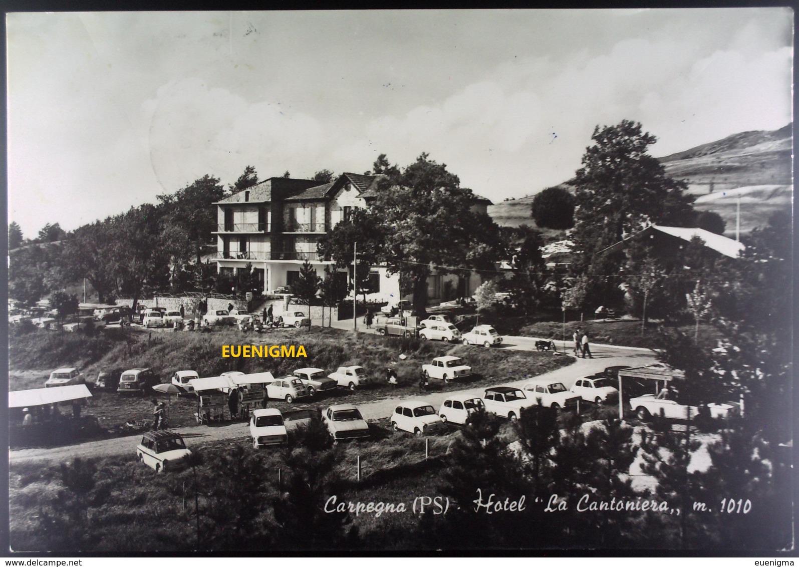 VIAGGIATA 1969 CARPEGNA (PS) HOTEL LA CANTONIERA M. 1010 - Alberghi & Ristoranti