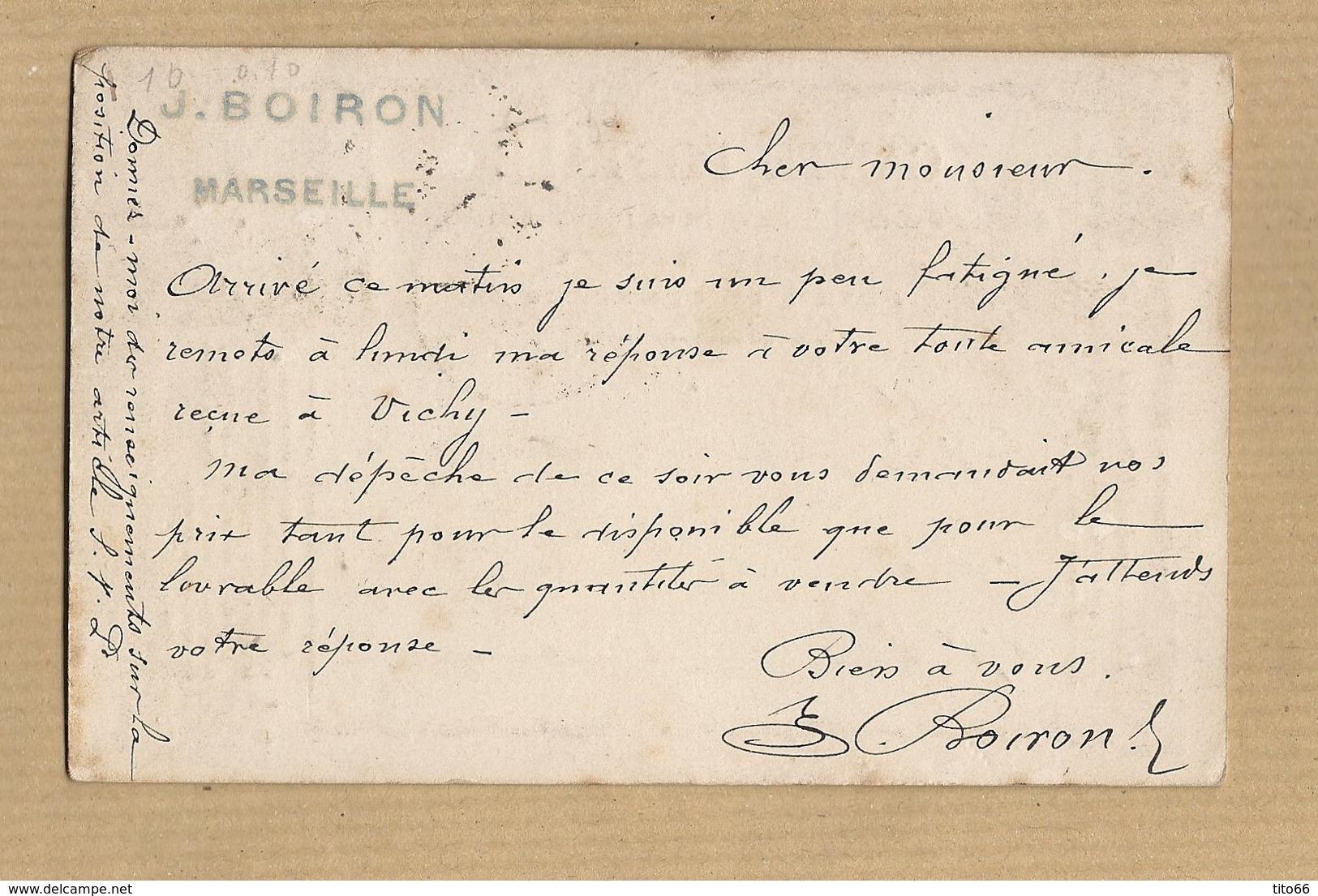 Cérès N° 59 Sur CPP N° 8 Cadre F Rocaille De Marseille A Arras Du 28 Juin 1873 TAD Ambulant - Entiers Postaux