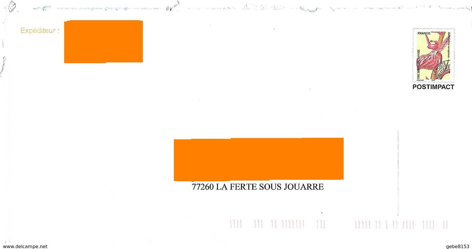 Préoblitéré Jusqu'à 35 Gr Post Impact Orchidée De Savoie Fleur - 1989-....