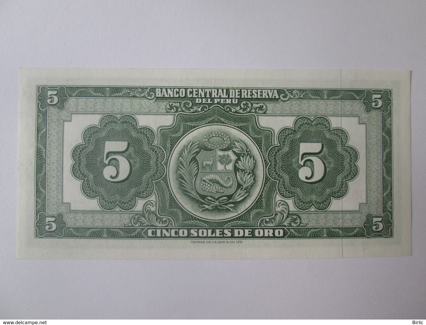 Peru 5 Soles De Oro 1968 Banknote UNC - Pérou
