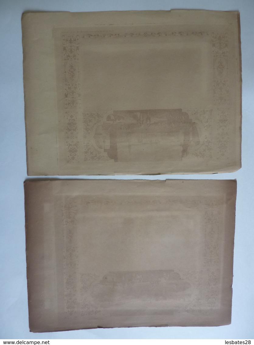 CHROMO-LITHOGRAPHIE  ALMANACH -CALENDRIER En Trimestriels  1857 -Chromos -Edit Dubois-Trianon - Calendriers