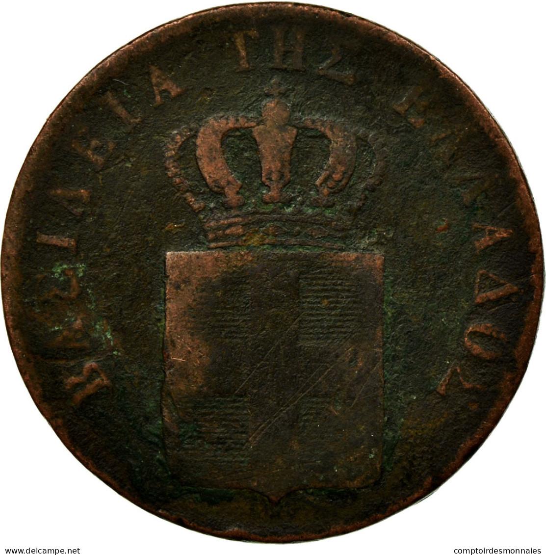 Monnaie, Grèce, Othon, 5 Lepta, 1834, B+, Cuivre, KM:16 - Grèce