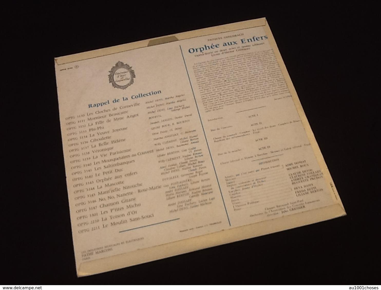 Vinyle 33 Tours Jacques Offenbach  Orphée Aux Enfers - Oper & Operette