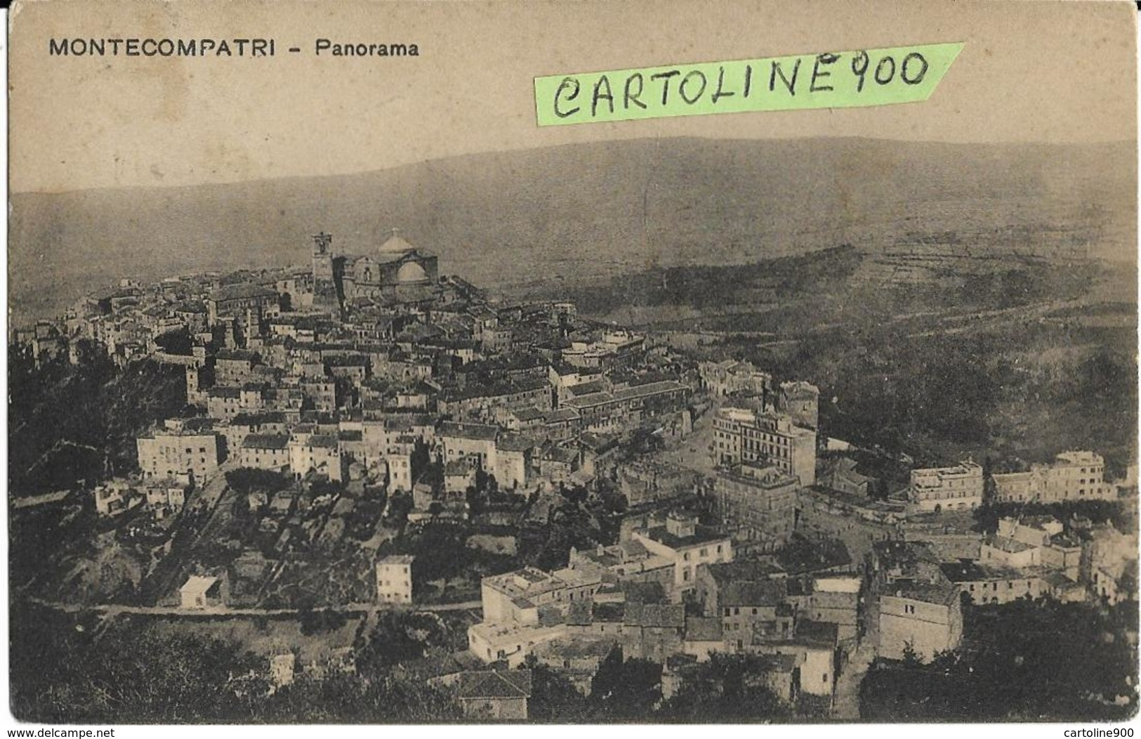 Lazio-roma-montecompatri Panorama Veduta Panorama Monte Compatri Primi 900 (v.retro) - Altre Città