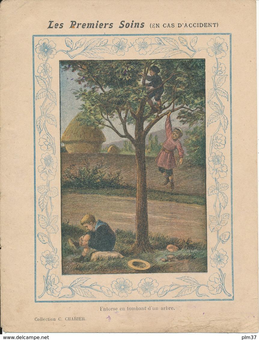 Couverture De Cahier - Les Premiers Soins En Cas D'accident - C. Charier - Protège-cahiers