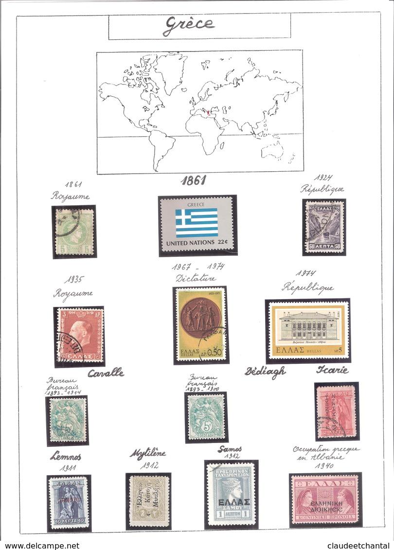 Collection Mondiale En 7 Albums : 1timbre,1 BF,1 PA,1 Doc. Par Pays Et Par Changement De Régime. - Autres