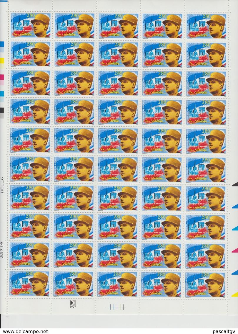 Faciale 21.35 Eur ; Feuille De 50 Tbs à 2.80f N° 2944 (cote 85 Euros) - Feuilles Complètes