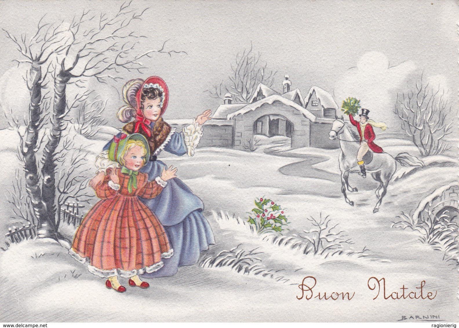 AUGURI FESTE - Buon Natale - Merry Christmas - Feliz Navidad - Joyeux Noël - Allegoria - Barnini - 1955 - Natale