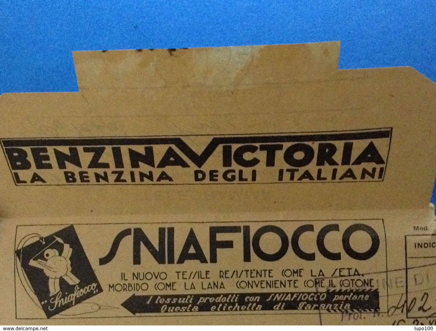 1940 REGNO D'ITALIA TELEGRAMMA PUBBLICITÀ BENZINA VICTORIA FIERA LEVANTE BARI RABARBARO ZUCCA TESSILE SNIAFIOCCO - Pubblicitari